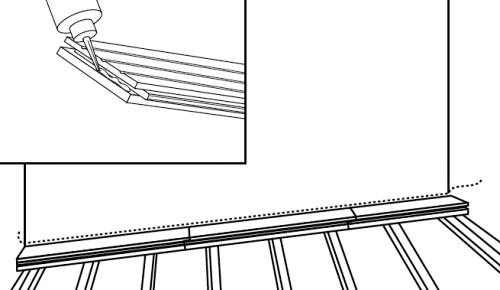 První řada podlahy v rovině