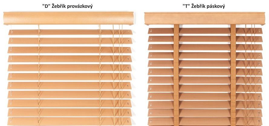 Volba žebříku dřevěné žaluzie