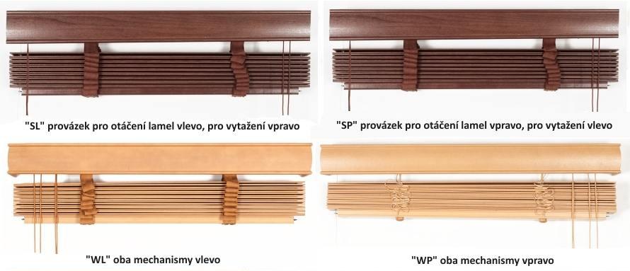 Ovládání dřevěných žaluzií