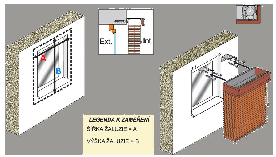 Zaměření a montáž dřevěné žaluzie na zeď