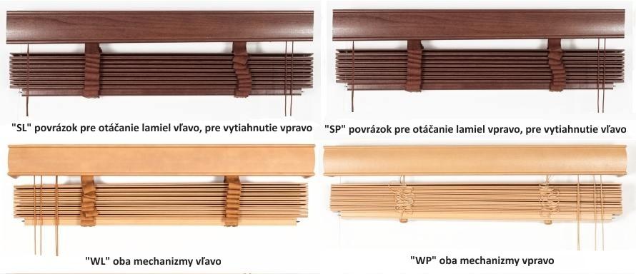 Ovladanie drevených žaluzí