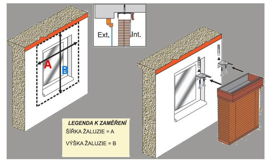 Zaměření a montáž dřevěné žaluzie 50 mm na strop