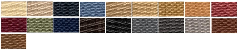 Farby textilných bordúr 5 cm