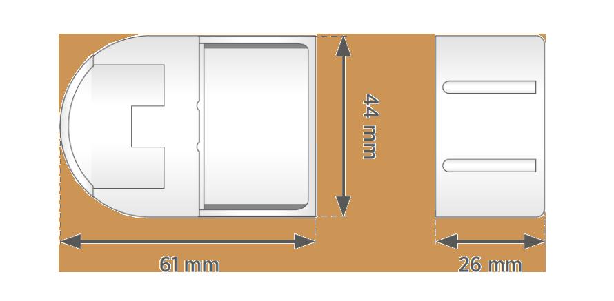 Rozměry mechanismu Smartroll 24 pružinové rolety