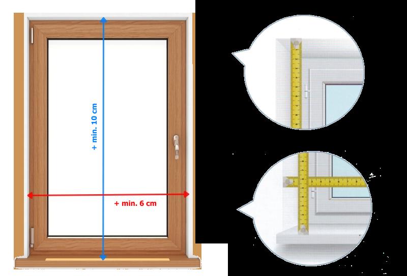 Zaměření rolety S-line před otvor