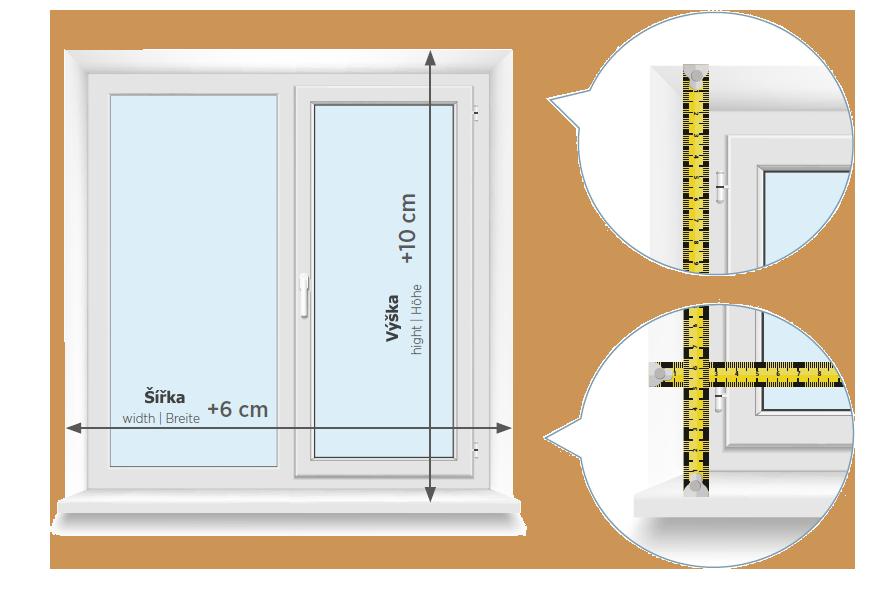 Zaměření pružinové rolety Smartroll 24