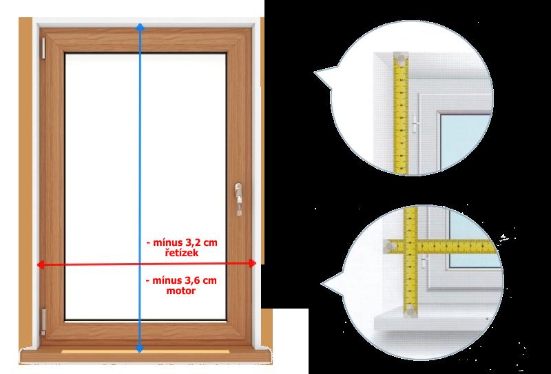 Zaměření rolety S-line do otvoru