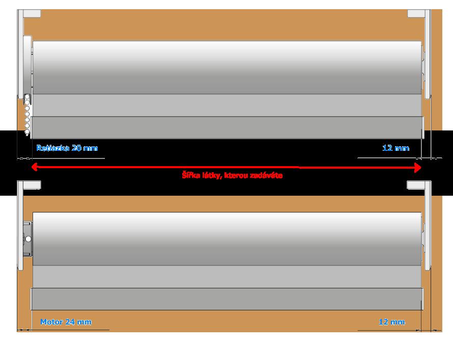 Zaměření rolety L-line