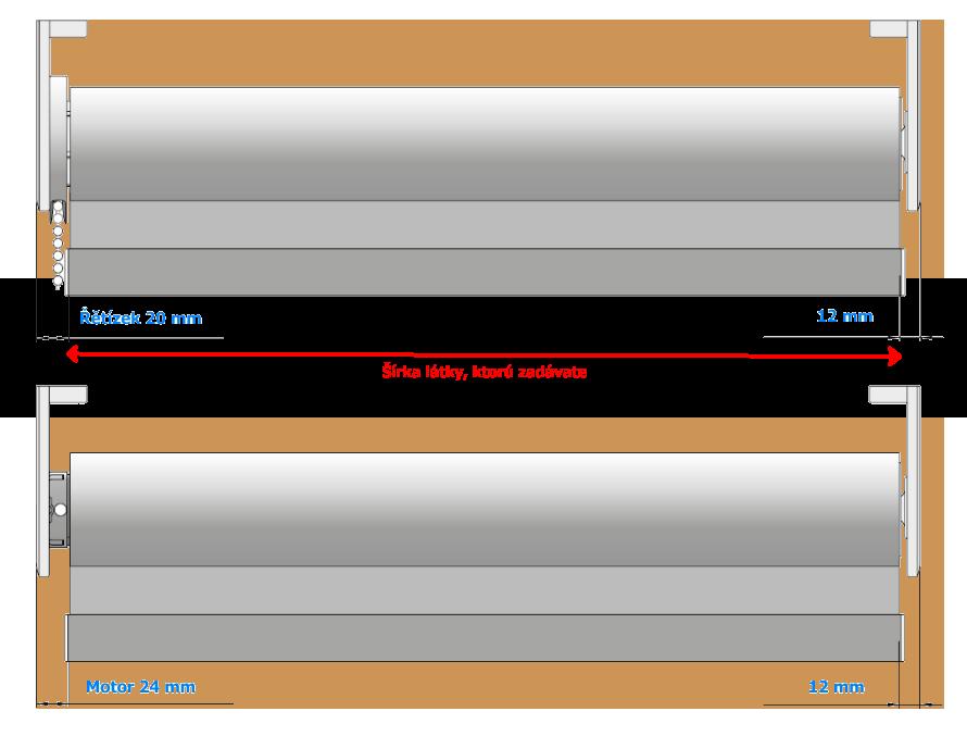 Zameranie rolety L-line