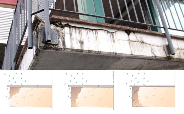 Prenikanie vlhkosti do balkónov a terás