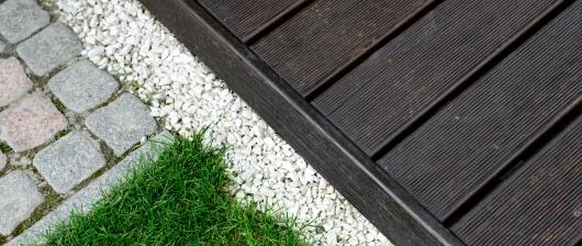 Okrajové lišty teras