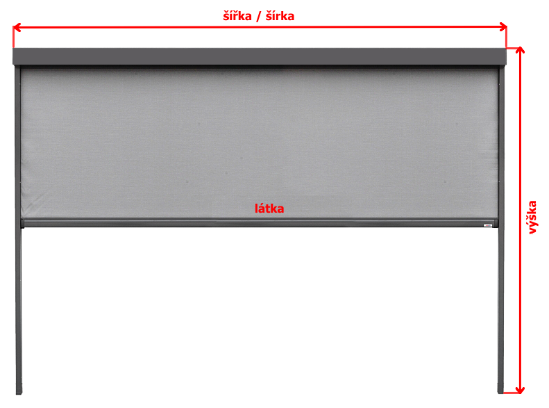 Zameranie ZIP screen rolety