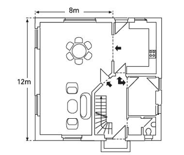Požadavky na dilatační spáry v závislosti na velikosti místnosti