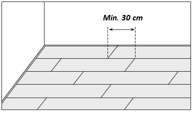 Překrytí čelních spojů při pokládce podlah