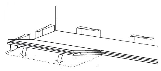 Pokládka druhé řady podlahy