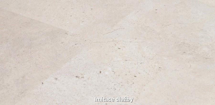Vinylová podlaha imitující dlažbu