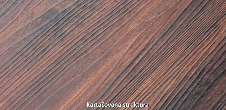 Vinylová podlaha s kartáčovanou strukturou
