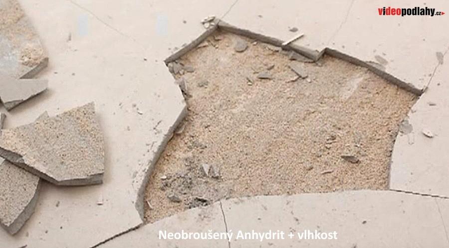 Problémy s vinylovou podlahou - nebroušený Anhydrit a vlhkost