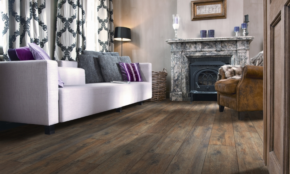 Tmavé PVC podlahy bez filcu