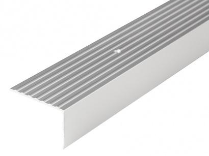 Schodová lišta šroubovací 65 x 42 x 2700 Stříbrná E01