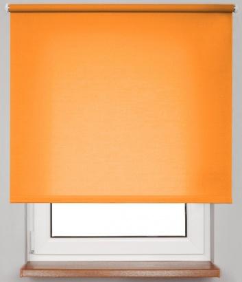 Pružinová transparentní roleta Oranžová 5034 Carina 24 Smartroll