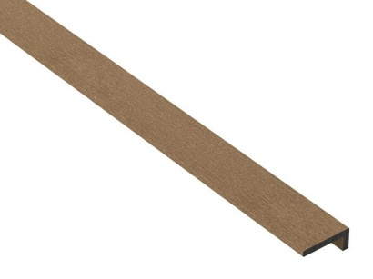 Okrajová lišta S-Board Teak 2400 x 40 x 25 mm