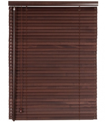 Dřevěná žaluzie na míru Classic 25 Mahagony 203