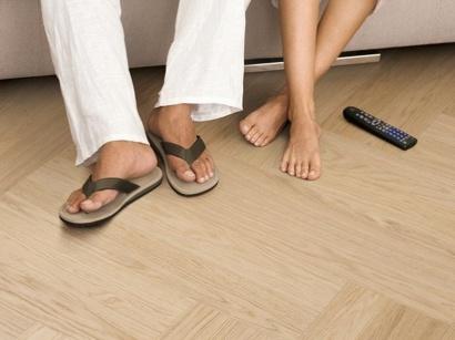 Dýhovaná podlaha Par-Ky Twist Ivory Oak Premium pravý