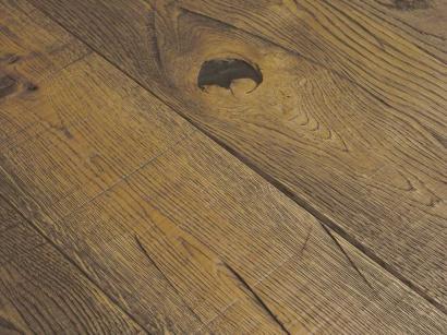 Třívrstvá podlaha Esco Karel IV Hořčičná šedá 3014 15 x 190