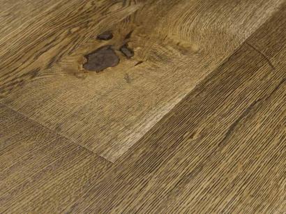 Třívrstvá podlaha Esco Karel IV Olivově zelená 3007 15 x 190