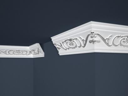Stropní polystyrenová lišta Marbet Exclusive B6 Silver