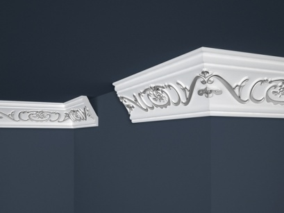 Stropní polystyrenová lišta Marbet Exclusive B26 Silver