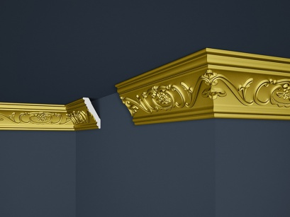 Stropní polystyrenová lišta Marbet Exclusive B26 Super Gold
