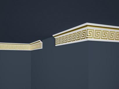 Stropní polystyrenová lišta Marbet Exclusive B21 Gold