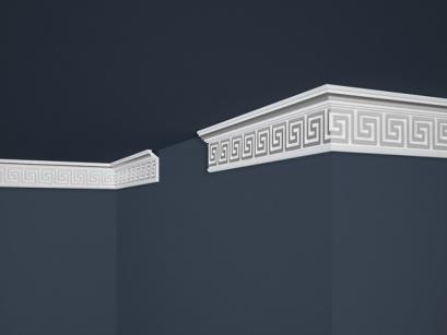 Stropní polystyrenová lišta Marbet Exclusive B21 Silver