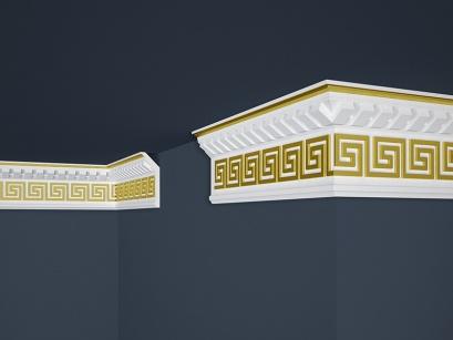Stropní polystyrenová lišta Marbet Exclusive B25 Gold