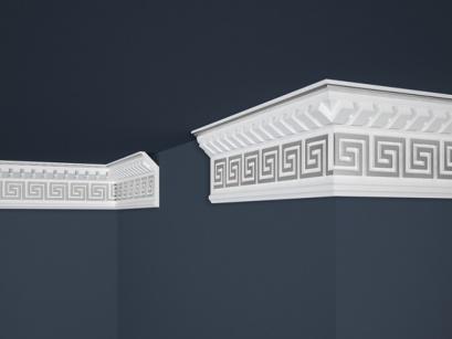 Stropní polystyrenová lišta Marbet Exclusive B25 Silver