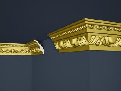 Stropní polystyrenová lišta Marbet Exclusive B24 Super Gold