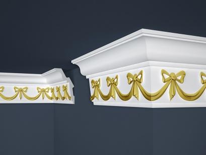 Stropní polystyrenová lišta Marbet Exclusive B29 Gold