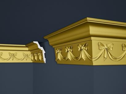 Stropní polystyrenová lišta Marbet Exclusive B29 Super Gold