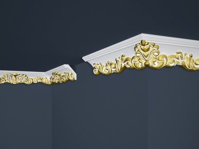 Stropní polystyrenová lišta Marbet Exclusive B35 Gold