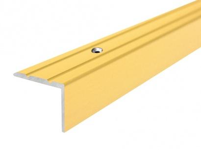 Schodová lišta šroubovací Zlatá E00