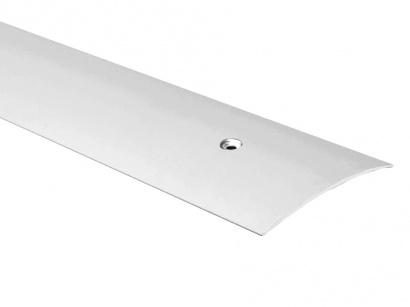 Přechodová lišta šroubovací oblá Stříbrná E01