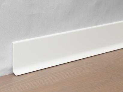 Hliníková podlahová lišta 90/6 SF Bílá lakovaná lesklá 60 mm