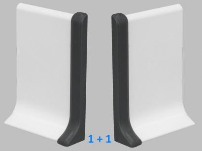 Ukončení 90/6P Profilpas Antracit šedý pár