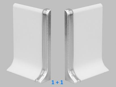 Ukončení 90/4SP Profilpas Stříbrné broušené pár