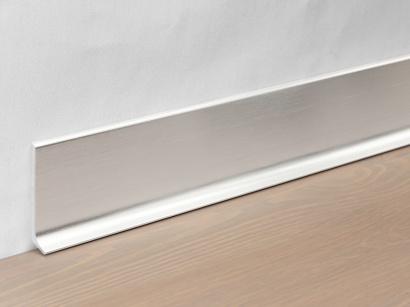 Hliníková podlahová lišta 90/8 SSF Stříbrná broušená 80 mm