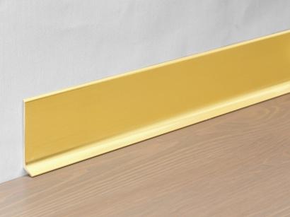 Hliníková podlahová lišta 90/8 SSF Zlatá broušená 80 mm