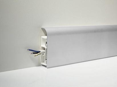 Hliníková podlahová lišta 97/8 SF Stříbrná 80 mm