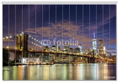 Vertikální žaluzie 70432328 Brooklyn bridge Blackout na míru